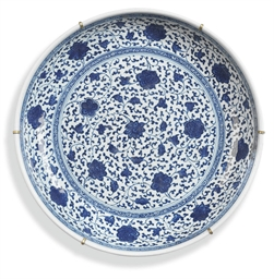 A CHINESE BLUE AND WHITE MING