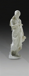 AN ITALIAN MARBLE FIGURE OF RE
