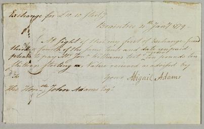 ADAMS, Abigail (1744-1818). Ma