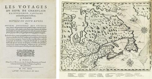 CHAMPLAIN, Samuel de (1567-1635) Les Voyages du Sieur de Cha...