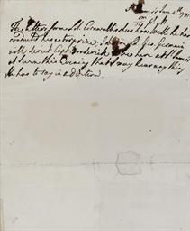 GEORGE III (1738-1820). Autogr