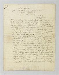 LINNAEUS, Carolus. Autograph l