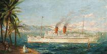 Le Carthage entrant au port de Tunis