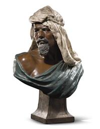 Buste d'homme arabe au turban