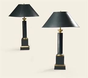 PAIRE DE LAMPES DE STYLE RESTA