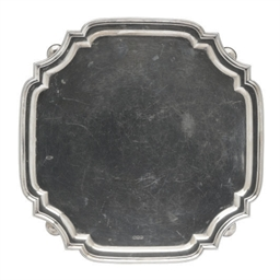 AN EDWARD VII SHAPED TRAY,