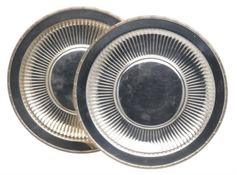 A PAIR OF AMERICAN SILVER PLAT