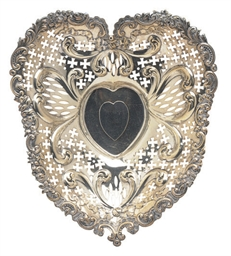 AN AMERICAN SILVER HEART-SHAPE