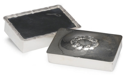 A DANISH SILVER CIGARETTE BOX
