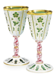A PAIR OF BOHEMIAN OR ENGLISH