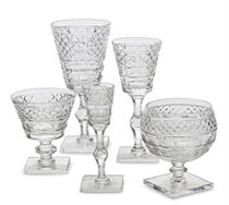 A LARGE CUT GLASS DRINKWARE SERVICE,