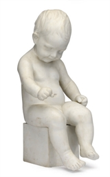A BISCUIT PORCELAIN FIGURE OF
