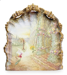 AN ENGLISH PORCELAIN PLAQUE,