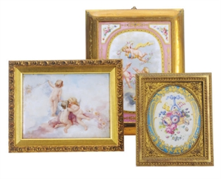 A PAIR OF FRAMED SEVRES STYLE