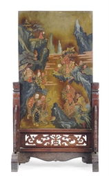 A CHINESE POLYCHROME-PAINTED M