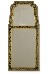 A GILTWOOD AND VERRE EGLOMISE