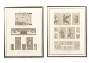 TWO FRAMED ETCHINGS OF EGYPTIA