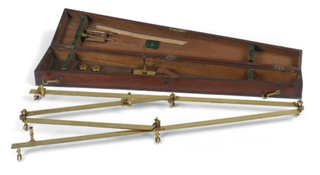 AN ENGLISH BRASS PANTOGRAPH,