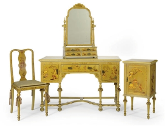 A CHINOISERIE DECORATED BEDROO
