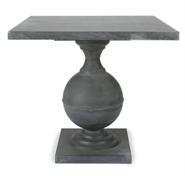 A PAIR OF ZINC GARDEN TABLES,