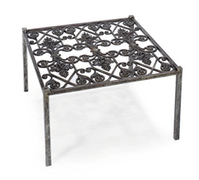 A CAST STEEL LOW TABLE,