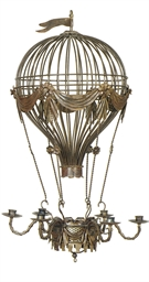 A PATINATED METAL BALLOON-FORM