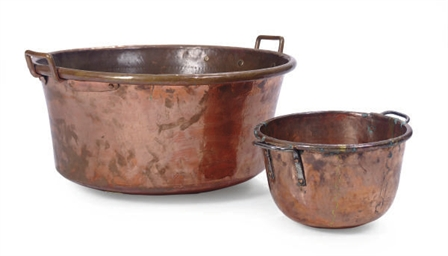 TWO COPPER POTS,