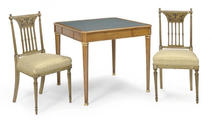A FRUITWOOD AND PARCEL-GILT GA