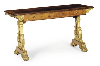 A WILLIAM IV MAHOGANY, SATINWO