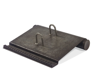 A WROUGHT-IRON DESK CALENDAR,