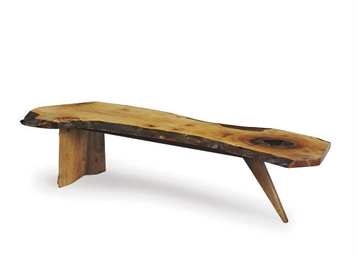 A WALNUT COFFEE TABLE,