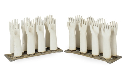 TWO SETS OF PORCELAIN HAND GLO