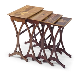 A SET OF FRENCH FRUITWOOD AND