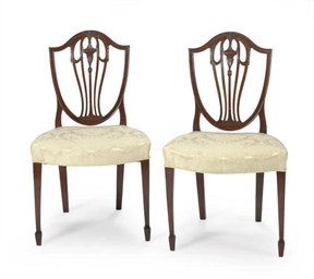 A PAIR OF AMERICAN MAHOGANY SH