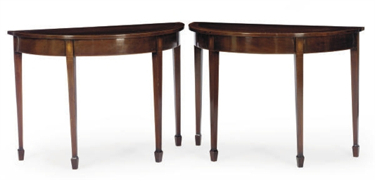 A PAIR OF MAHOGANY AND AMARANT