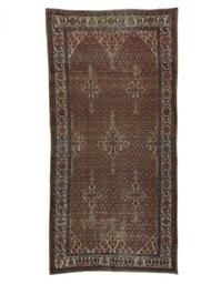 A MALAYER GALLERY CARPET,