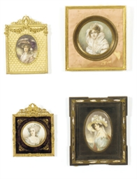 A GROUP OF SIX FRAMED PORTRAIT