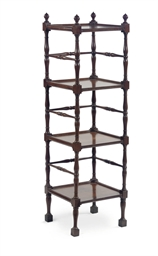 AN ENGLISH MAHOGANY FOUR TIER