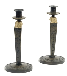 A PAIR OF CONSULAT ORMOLU AND