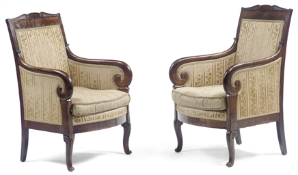 A PAIR OF RESTAURATION MAHOGAN