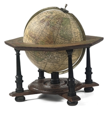 A 20-CM GERMAN TABLE GLOBE