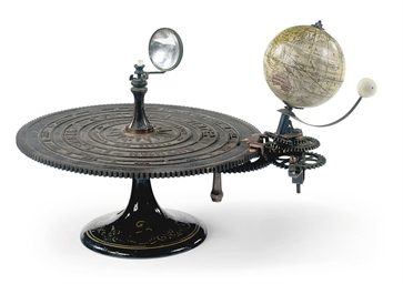 A CAST-IRON AND BRASS ORRERY W