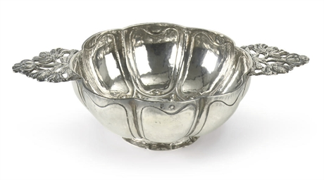 A Dutch silver brandy bowl