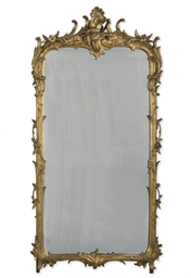 A DUTCH GILT-WOOD MIRROR