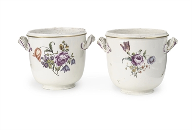 Two Frankenthal porcelain jard