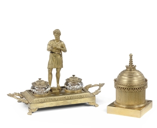 A RUSSIAN ORMOLU AND CUT-GLASS