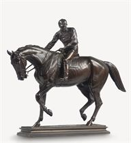 A FRENCH BRONZE GROUP ENTITLED 'LE GRAND JOCKEY'