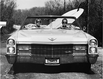 Dave and Pam in their Caddy, Montauk, NY, 2002