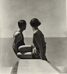 Divers, Swimwear by Izod, 1930