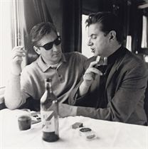 Francis Bacon and George Dyer on the Orient Express to Athens, 1965
